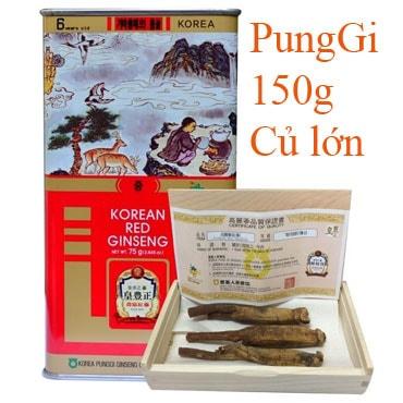 Hồng Sâm Khô Nguyên Củ Punggi 150g