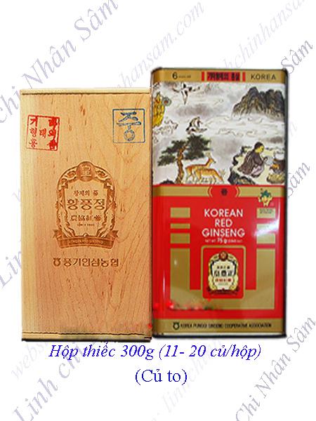 Hồng Sâm Khô Nguyên Củ Punggi 300g  (11-20 củ/hộp)