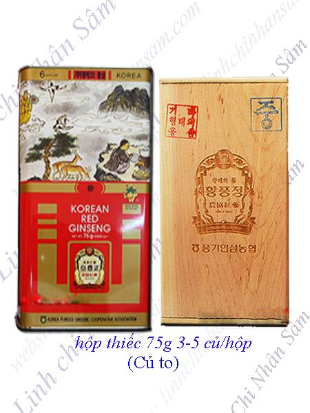 Hồng Sâm Khô Nguyên Củ Punggi 75g  ( 3-5 củ/hộp)