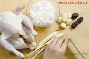 Nhân sâm hầm thịt gà