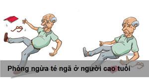 Phòng tránh té ngã ở người cao tuổi