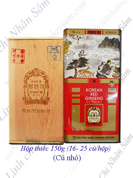 Hồng Sâm Khô Nguyên Củ Punggi 150g  (16-25 củ/hộp)