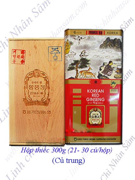Hồng Sâm Khô Nguyên Củ Punggi 300g  (21-30 củ/hộp)