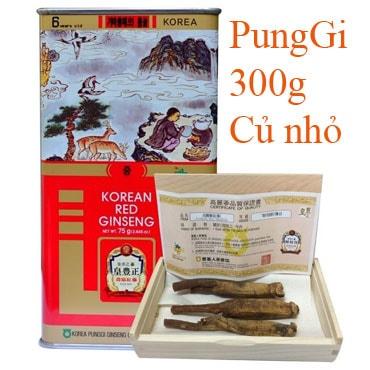 Hồng Sâm Khô Nguyên Củ Punggi 300g