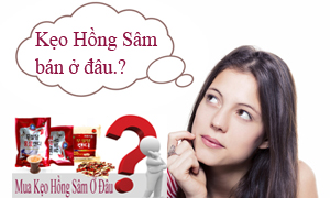 Kẹo sâm Hàn Quốc bán ở đâu