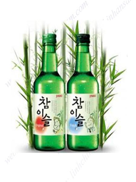 Rượu Soju Chamisul của hãng Jinro, Hàn Quốc