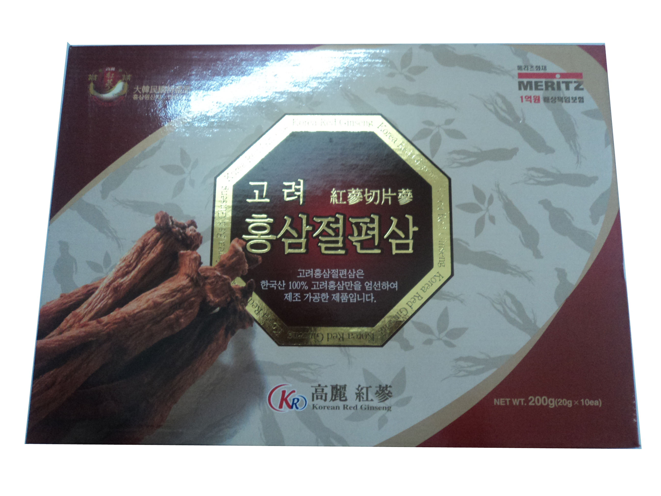 Thêm mới - Hồng Sâm Lát Tẩm Mật Ong Hiệu MERITZ Hàn Quốc